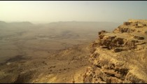 Royalty Free Stock Video Footage of Makhtesh Ramon crater shot in Israel at 4k with Red.