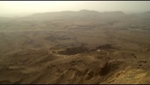 Royalty Free Stock Video Footage panorama of Makhtesh Ramon crater shot in Israel at 4k with Red.