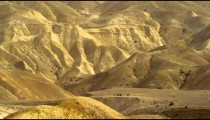 Royalty Free Stock Video Footage of a mountainous desert landscape shot in Israel at 4k with Red.