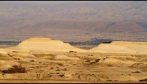 Royalty Free Stock Video Footage panorama of a desert landscape shot in Israel at 4k with Red.