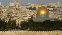Royalty Free Stock Video Footage of the Temple Mount mosques filmed in Israel at 4k with Red.