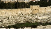 Stock Video Footage panorama of the Temple Mount mosques filmed in Israel at 4k with Red.