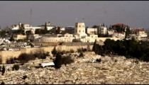 Stock Video Footage of a cemetery and the Rockefeller Museum filmed in Israel at 4k with Red.