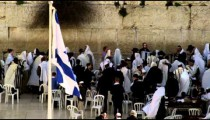 Male Jews at the Western Wall filmed in Israel at 4k with Red.