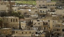 Royalty Free Stock Video Footage of residences in Old Jerusalem filmed in Israel at 4k with Red.