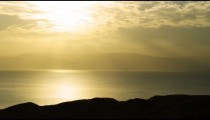 Royalty Free Stock Video Footage panorama of dawn at the Dead Sea shot in Israel at 4k with Red.