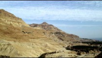 Royalty Free Stock Video Footage of desert mountains at the Dead Sea shot in Israel at 4k with Red.