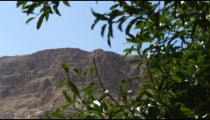 Royalty Free Stock Video Footage of desert cliffs and greenery shot in Israel at 4k with Red.