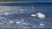 Royalty Free Stock Video Footage of the salty Dead Sea shore shot in Israel at 4k with Red.