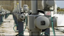 Royalty Free Stock Video Footage of desalination plant meters shot in Israel at 4k with Red.