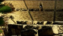 Royalty Free Stock Video Footage of the Caesarea theater shot in Israel at 4k with Red.