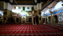 Stock Footage of the prayer hall at Jezzar Pasha Mosque in Israel.