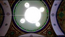 Stock Footage of a Jezzar Pasha Mosque chandelier in Israel.
