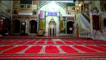 Stock Footage of the front interior of Jezzar Pasha Mosque in Israel.