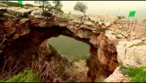 Stock Footage of a natural rock arch at Adamit Park Cave in Israel.