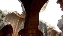 Stock Footage of an arched, domed ceiling at Nimrod Fortress in Israel.
