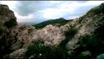 Stock Footage of a rocky hillside near Nimrod Fortress in Israel.