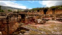 Stock Footage of ruins at the Palace of Agrippa in Israel.