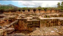 Stock Footage of the Palace of Agrippa ruins in Israel.