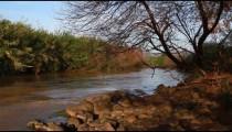 Stock Footage panorama of the River Jordan in Israel.