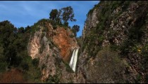 Stock Footage of the Iyon Tanur waterfall in Israel.