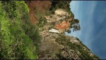 Stock Footage horizontal of Iyon Tanur waterfall in Israel.