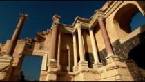 Stock Footage of a Corinthian order columns at Beit She'an in Israel.
