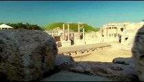 Stock Footage of the theater stage at Beith She'an in Israel.