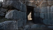 Stock Footage of a stone tunnel at Beit She'an in Israel.