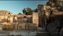 Stock Footage of walls and arches at Beit She'an in Israel.