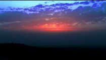 Stock Footage of a bright, cloudy sunset in Israel.