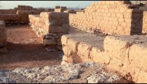 Stock Footage of Tel Be'er Sheva walls in Israel.