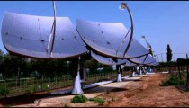 Stock Footage of a row of solar panels in Israel.