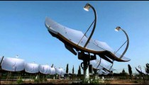Stock Footage of solar panel dishes in Israel.