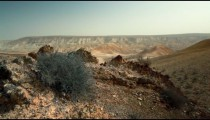 Stock Footage of a rocky desert hill in Israel.