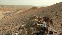 Stock Footage of desert hillsides in Israel.