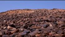 Stock Footage of the rock-strewn hillside of Ha-Minsara in Israel.