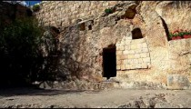 Stock Footage of the Garden Tomb in Israel.