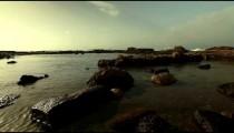 Stock Footage of Caesarea pool ruins at the Mediterranean in Israel.