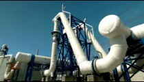Stock Footage of a piping structure at a desalination plant in Israel.