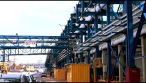 Stock Footage panorama of a desalination plant in Israel.
