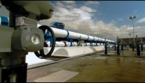 Stock Footage of desalination plant valves and pipes in Israel.