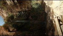 Stock Footage horizontal of Nahal David waterfall in Israel.