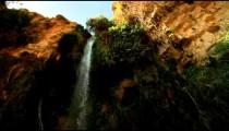 Stock Footage of Nahal David waterfall in Israel.