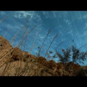 Stock Footage of a blue sky over Ein Gedi in Israel.