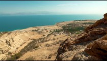 Stock Footage of the Dead Sea in Israel.