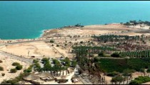 Stock Footage of the Dead Sea and an orchard in Israel.