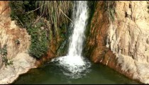 Stock Footage of a small cascade at Ein Gedi in Israel.