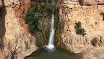 Stock Footage of a stream cascading into a pool in Israel.