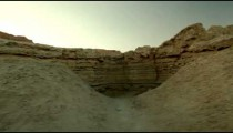 Stock Footage of a dry riverbed in the desert in Israel.